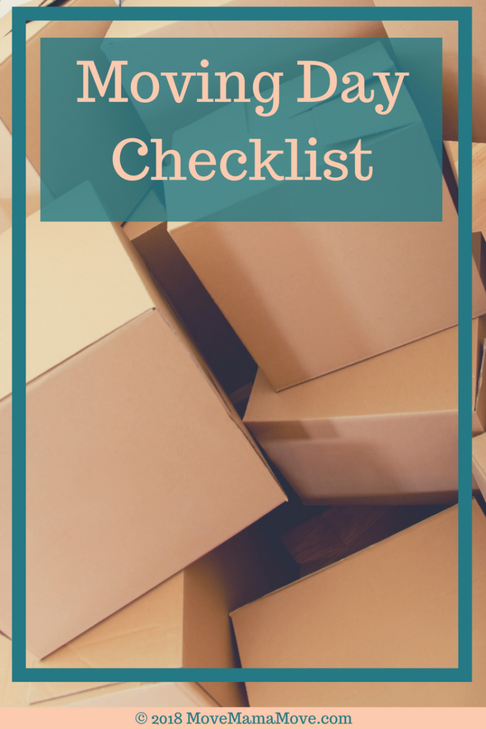 Moving Day Checklist