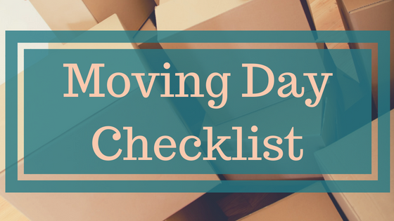 Moving Day:  Checklist