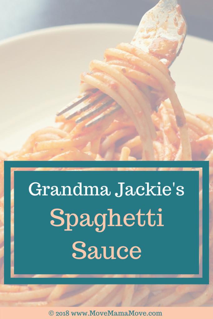 Grandma Jackie's Spaghetti