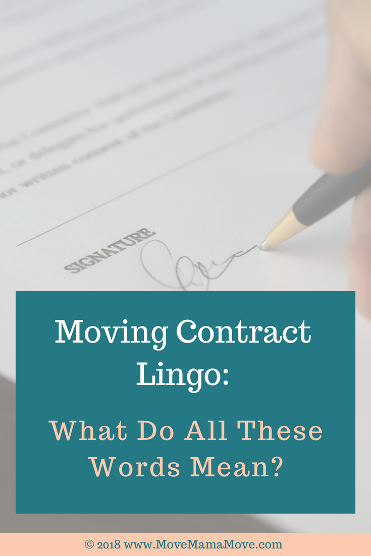 Moving Contract Lingo