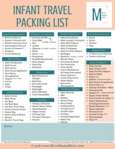 Infant Travel Packing List