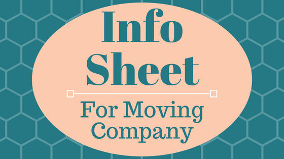 Info Sheet for Movers