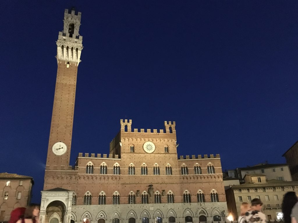 Torre del Mangia at Night