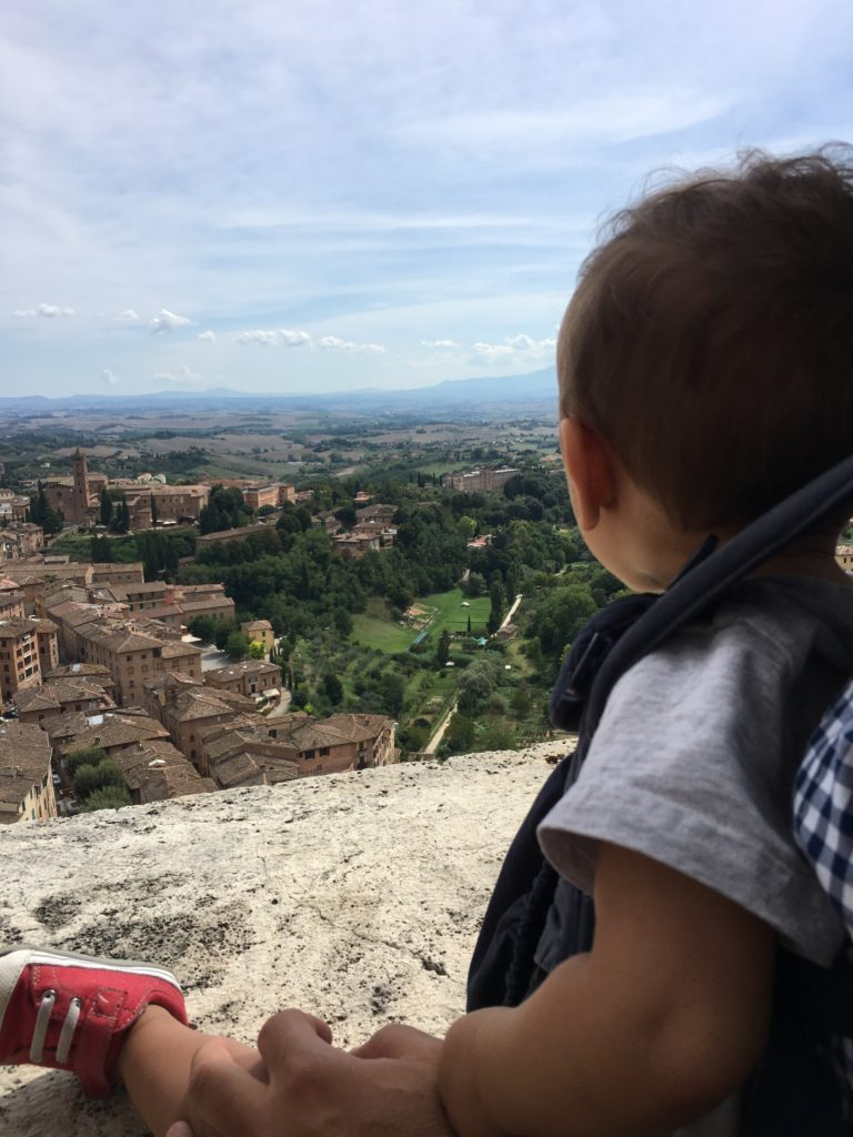 Chulengo looking out over Siena