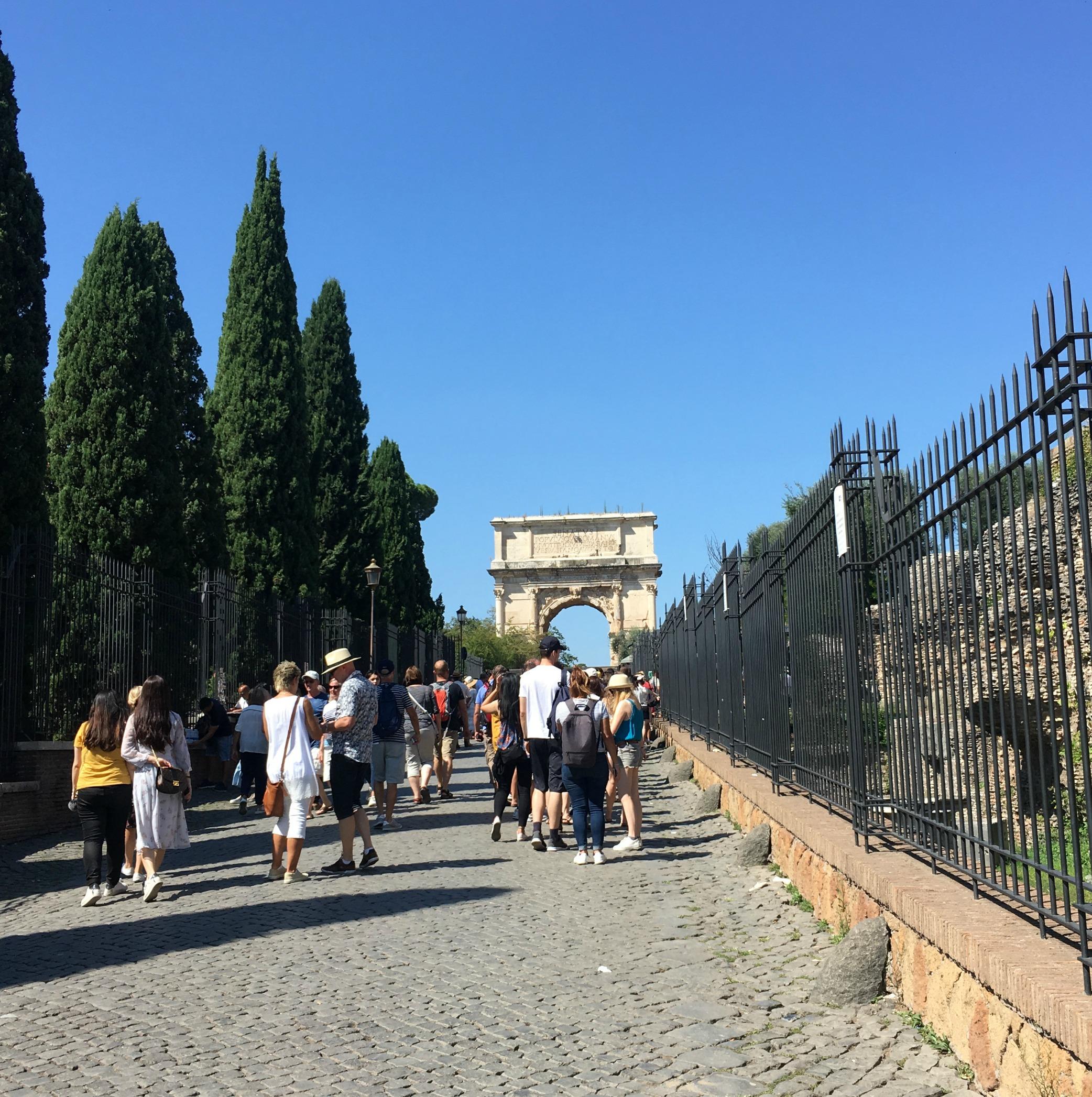 Entrance line at Roman Forum