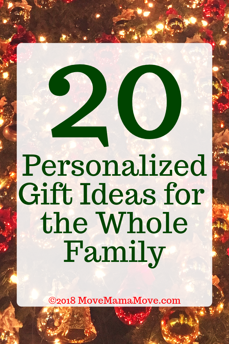 20 Personalized Gifts for the Whole Family