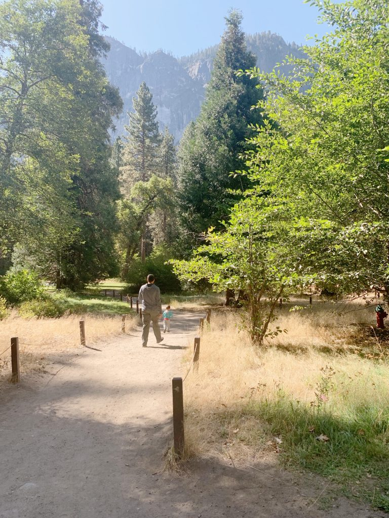 Enjoying the trails behind the Ahwahnee hotel