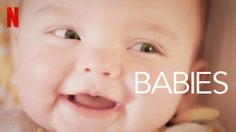 """A baby smiling with the text overlay """"Babies"""". The Netflix logo is in the top left corner."""