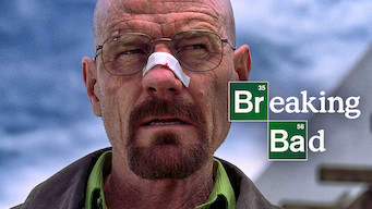 "Walter White with a bandage on his nose. Text overlay of ""Breaking Bad"" The Netflix logo is in the top left corner."