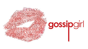"Words on top of each other in the shape of a lip print.  Text overlay ""Gossip Girl"""